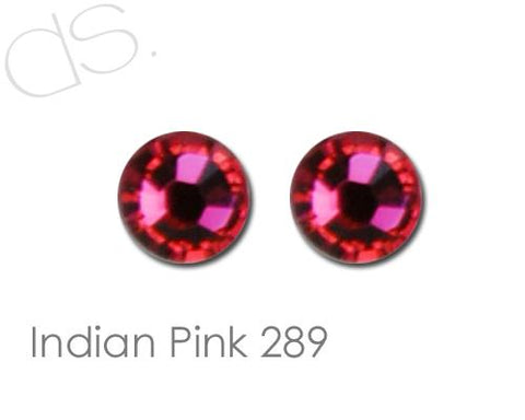 Indian Pink 289 Flatback Crystal Rhinestones