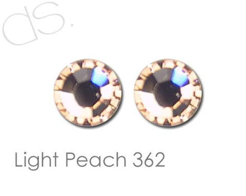 Light Peach 362 Flatback Crystal Rhinestones