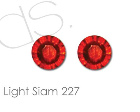 Light Siam 227 Flatback Crystal Rhinestones