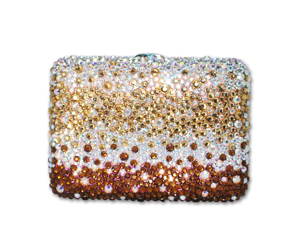 Graphite Swarovski Crystallized Cigarette Case