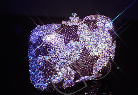 Twinkle The One Crystal Clutch Bag - 12.5cm
