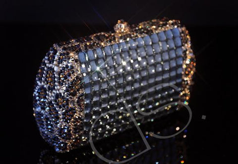 Cubical Leopard Crystallized Clutch - 14.6cm