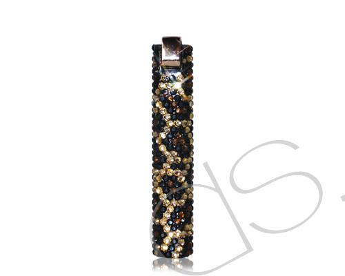 Leopardo Bling Swarovski Crystallized Lighter - Gold