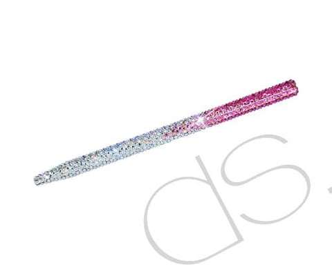 Graphite Swarovski Crystallized Long Ball Pen - Pink
