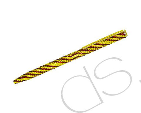 Twisted Stripe Swarovski Crystallized Long Ball Pen