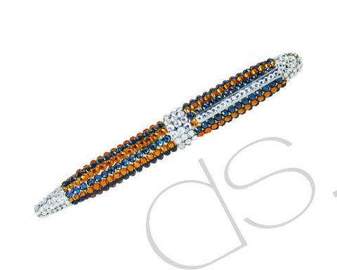 Zyla Stripe Bling Swarovski Crystal Ball Pen