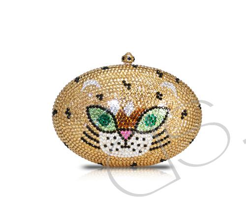 Tiger Crystal Clutch Bag  - 13.5cm