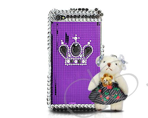 Decora Series iPhone 4 and 4S Crystal Case - Special Bear Purple