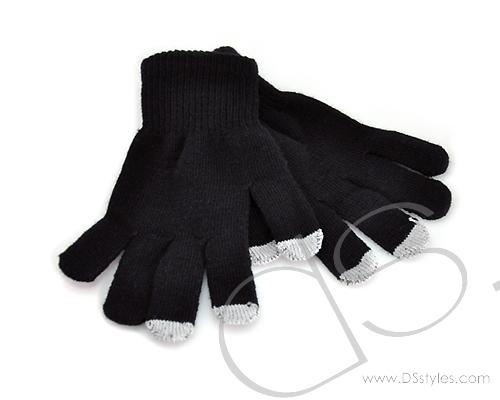 Touch Gloves For All Touch Screen Device - Black