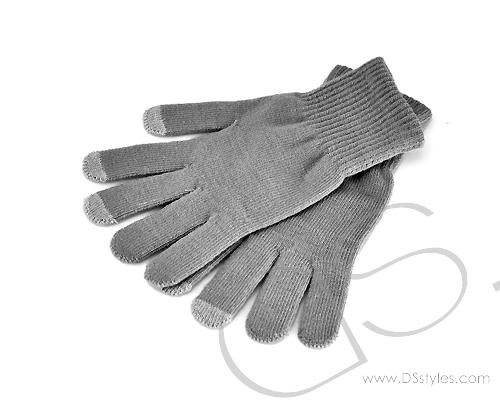 Touch Gloves For All Touch Screen Device - Gray