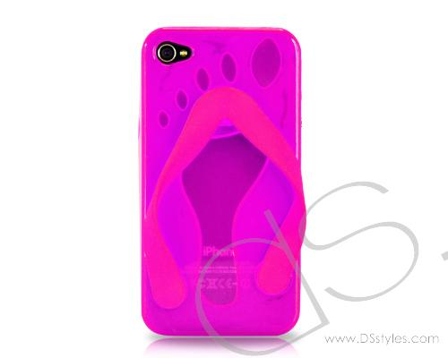 Flip-flop Series iPhone 4 Silicone Case - Pink