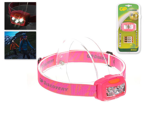 GP Discovery Ultra Light LED Headlight with 5 Modes - Pink