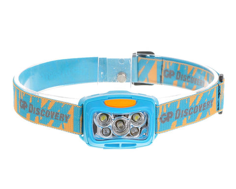 GP Discovery Ultra Light LED Headlight with 5 Modes - Blue