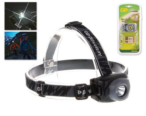 GP Discovery 140-Lumen LED Headlight with 3 AAA Batteries
