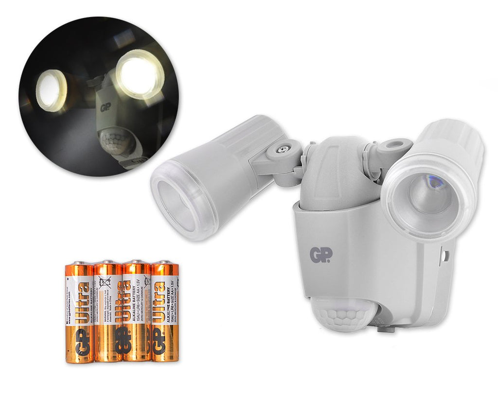 GP Cordless Lights Safeguard RF2 Outdoor Security Sensor Light - Grey