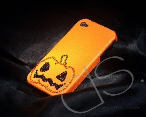 Halloween Bling Swarovski Crystal Phone Cases - Pumpkin
