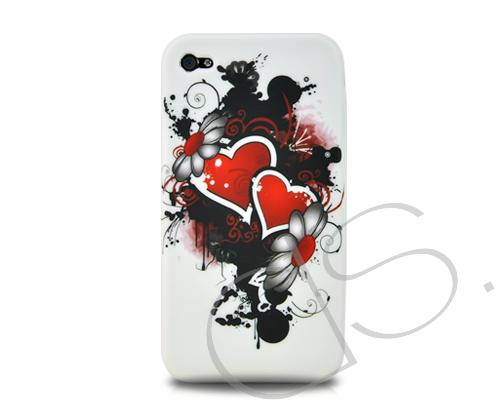 Joie Series iPhone 4 and 4S Silicone Case - Two Hearts
