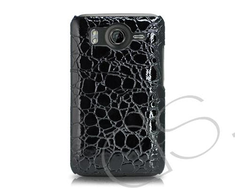 Krokodil Series HTC Desire HD Leather Case - Black