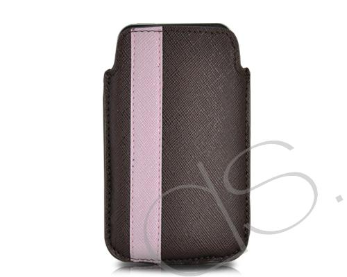 Lofty Series iPhone 4 and 4S Soft Pouch Case - Brown Pink