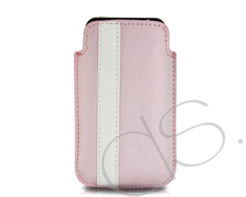 Lofty Series iPhone 4 and 4S Soft Pouch Case - Pink White