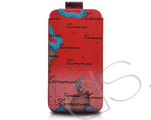 Map Series iPhone 4 and 4S Soft Pouch Case - Red