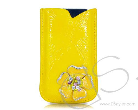 Mini Flower Series iPhone 4 and 4S Soft Pouch Case - Yellow