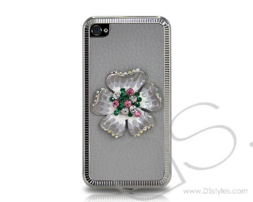 Mini Flower Series iPhone 4 and 4S Case - Gray