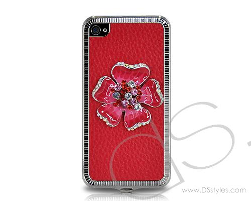 Mini Flower Series iPhone 4 and 4S Case - Red