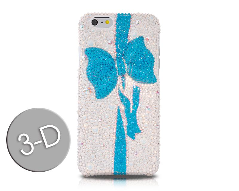Ribbon Bow Bling Swarovski Crystal Phone Cases - Blue