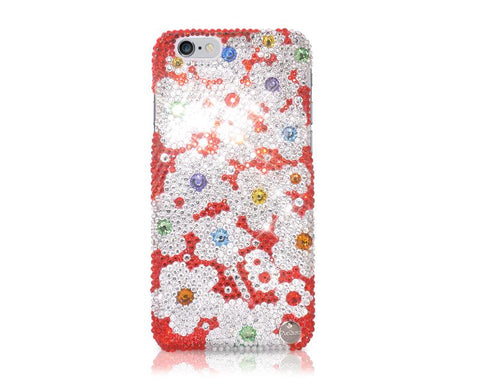 Florescence Bling Swarovski Crystal Phone Cases - Red