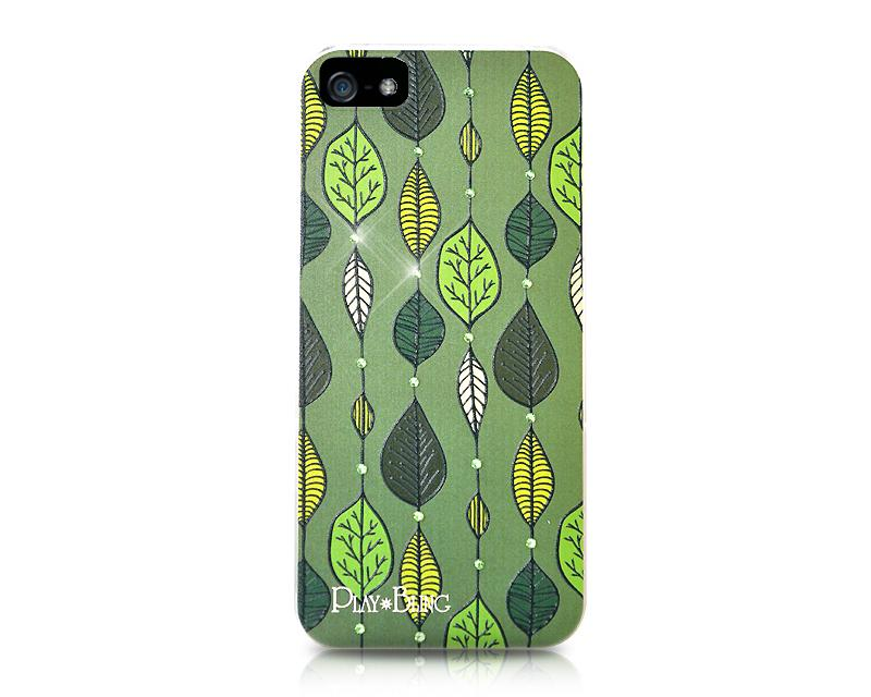 Leaves Combination Bling Swarovski Crystal Phone Cases