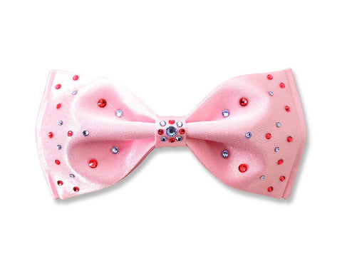 Swarovski Crystal Rhinestones  Pre-Tied Wedding Bow Tie for Men - Pink