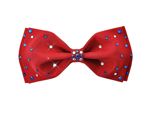 Swarovski Crystal Rhinestones Pre-Tied Wedding Bow Tie for Men - Red