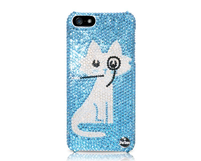 Pirate Cat Bling Crystal iPhone 5 Case
