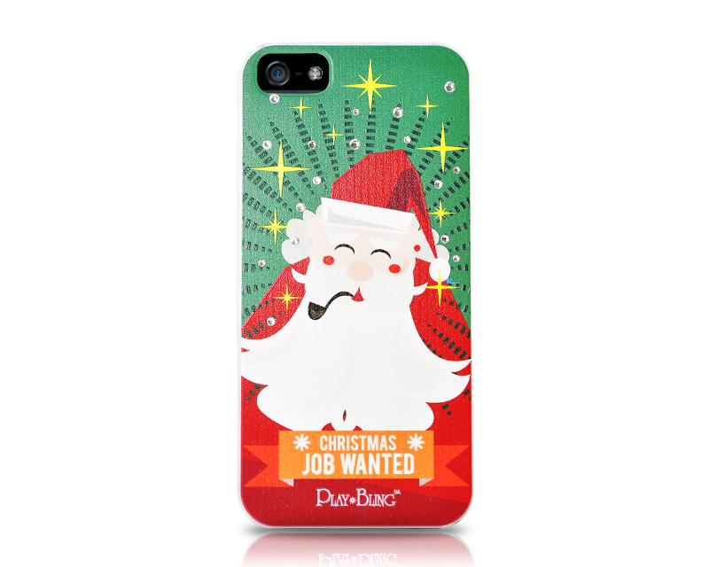 Christmas Job Wanted Bling Swarovski Crystal iPhone 8 Cases - Santa