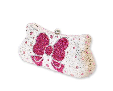 Ribbon Crystal Clutch Bag - 18.2cm