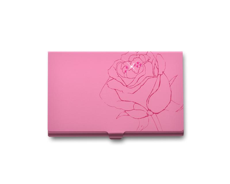 Rose Bling Swarovski Crystal Card Case