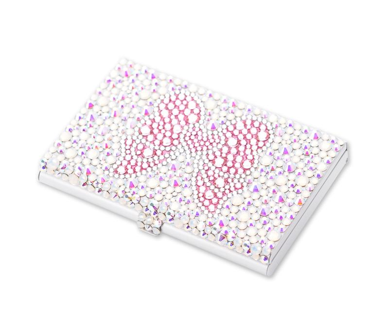Ribbon Bling Swarovski Crystal Card Case