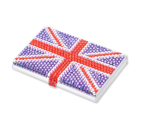 United Kingdom Bling Swarovski Crystal Card Case