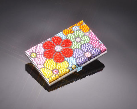 Florescence Bling Swarovski Crystal Card Case