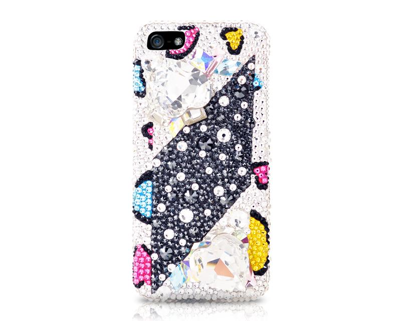 Leopardo Bling Swarovski Crystal iPhone 8 Cases - Color Print