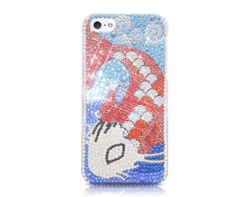 Wealthy Koi Bling Swarovski Crystal Phone Cases