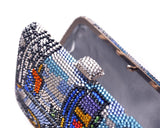 Cityscape Handcraft Crystal Clutch Bag - 16.5cm