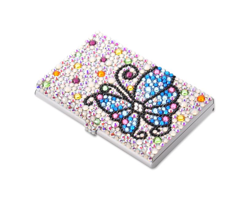 Butterfly bling swarovski crystal business card case dsstyles us butterfly bling swarovski crystal business card case colourmoves