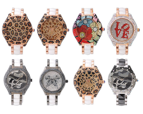 Swarovski Crystal Ceramics Women Watch