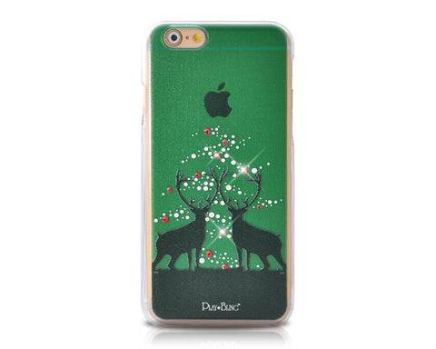 Christmas Fairy Reindeer Bling Swarovski Crystal iPhone 8 Cases - Green