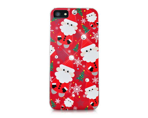 Christmas Santa Claus Bling Swarovski Crystal iPhone 8 Cases