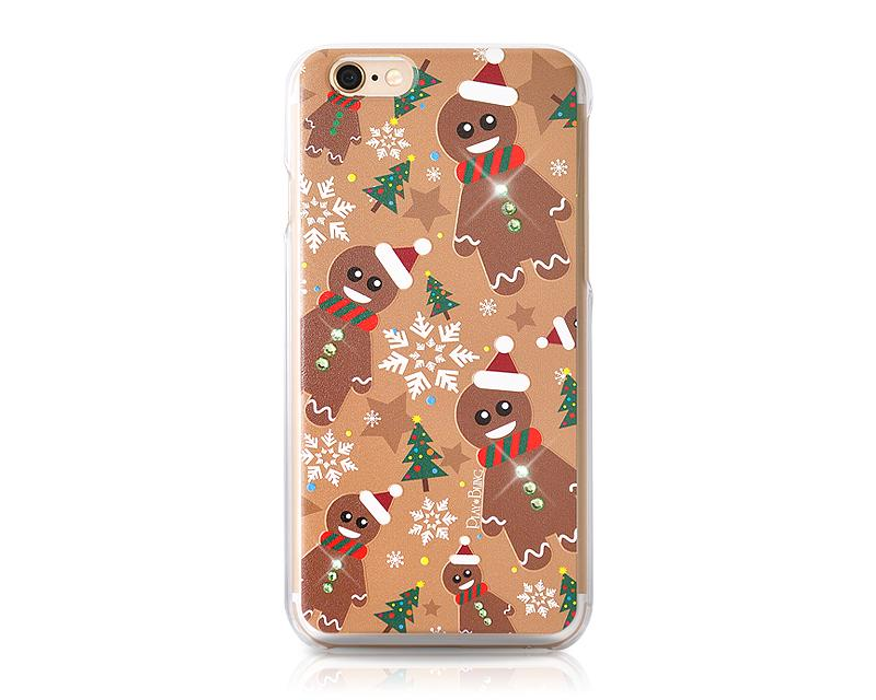 Christmas Gingerbread Bling Swarovski Crystal iPhone 8 Plus Cases