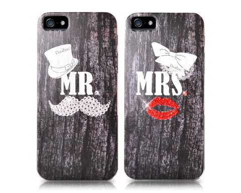Sweetheart Bling Swarovski Crystal Phone Cases - Couple Set