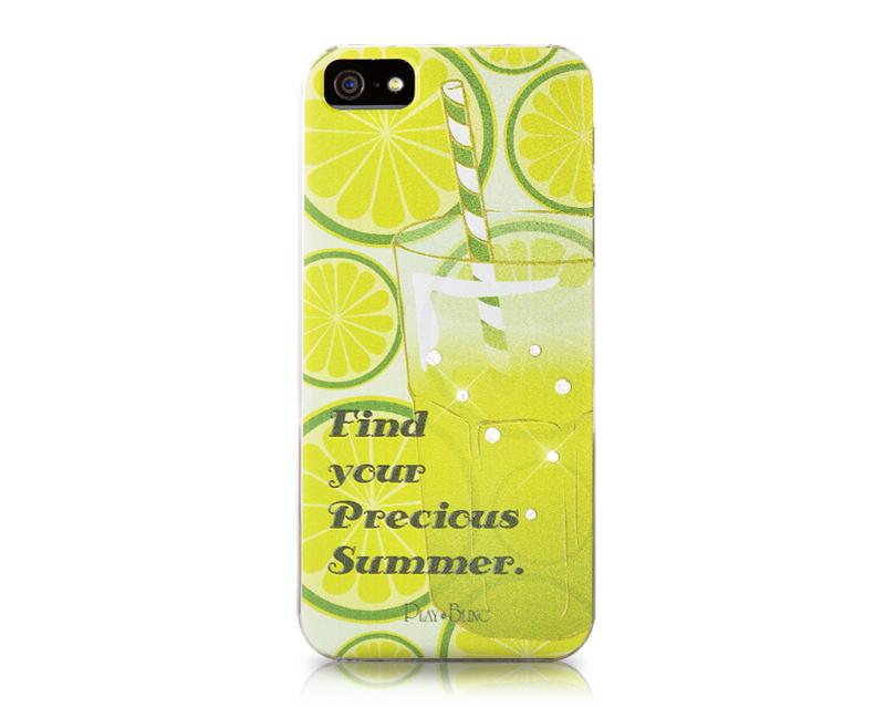 Iced Drink Bling Swarovski Crystal Phone Cases - Green